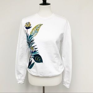 Tory Burch embroidered sequin pullover sweatshirt